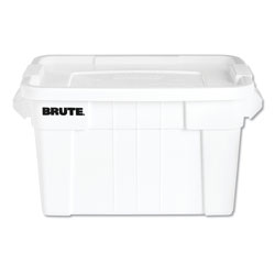 Rubbermaid BRUTE Tote with Lid, 20 gal, 27.9w x 17.4d x 15.1h, White