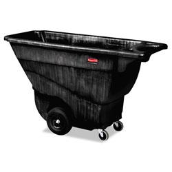 Rubbermaid Structural Foam Tilt Truck, Rectangular, 850 lb Capacity, Black