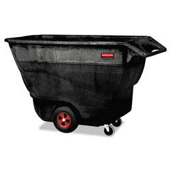 Rubbermaid Structural Foam Tilt Truck, Rectangular, 1,250 lb Capacity, Black