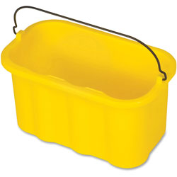 Rubbermaid Sanitizing Caddy, 10 Quart, 14 in x 7-1/2 in x 8 in, 6/CT, Yellow