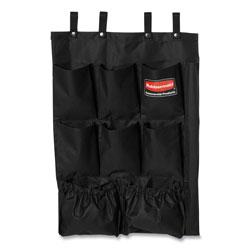 Rubbermaid Fabric 9-Pocket Cart Organizer, 19.75 x 1.5 x 28, Black
