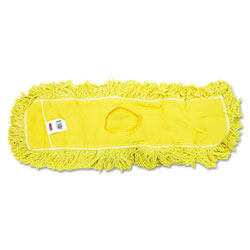 Rubbermaid Trapper Commercial Dust Mop, Looped-end Launderable, 5 in x 24 in, Yellow