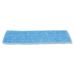 Rubbermaid Economy Wet Mopping Pad, Microfiber, 18 in, Blue, 12/Carton