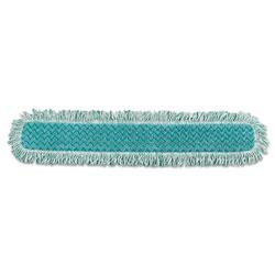 Rubbermaid HYGEN Dry Dusting Mop Heads with Fringe, 36 in, Microfiber, Green
