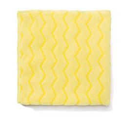 Rubbermaid Reusable Cleaning Cloths, Microfiber, 16 x 16, Yellow, 12/Carton