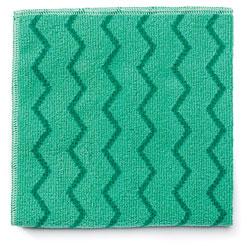 Rubbermaid Reusable Cleaning Cloths, Microfiber, 16 x 16, Green, 12/Carton