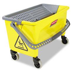 Rubbermaid HYGEN Press Wring Bucket for Microfiber Flat Mops, Yellow