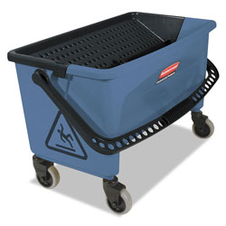 Rubbermaid Microfiber Finish Bucket, with Lid, 3 gal, Blue