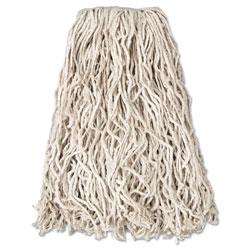 Rubbermaid Economy Cut-End Cotton Wet Mop Head, 20oz, 1 in Band, White, 12/Carton