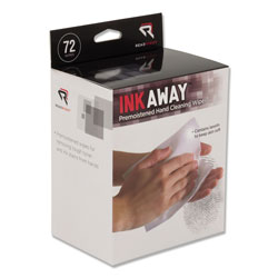 Read Right/Advantus Ink Away Hand Cleaning Pads, Cloth, White, 72/Pack