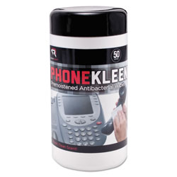 Read Right/Advantus PhoneKleen Wet Wipes, Cloth, 5 x 6, 50/Tub
