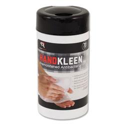 Read Right/Advantus HandKleen Premoistened Antibacterial Wipes, Cloth, 5.5 x 6.5, 70/Tub