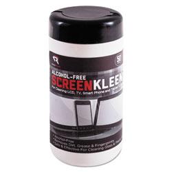 Read Right/Advantus ScreenKleen Monitor Screen Wet Wipes, Cloth, 5 1/4 x 5 3/4, 50/Tub