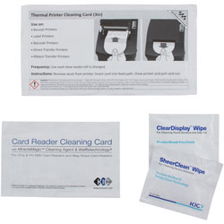 Read Right/Advantus Corporation POS Thermal Printer Cleaning Kit, Single-Use, 3 in , Assorted