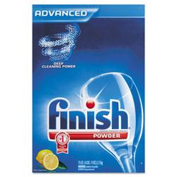 Finish® Automatic Dishwasher Detergent, Lemon Scent, Powder, 2.3 qt. Box, 6 Boxes/Ct