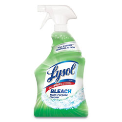 Lysol Multi-Purpose Cleaner with Bleach, 32oz Spray Bottle, 12/Carton