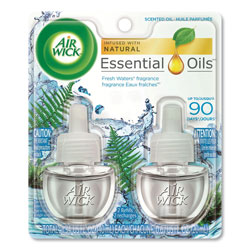 Air Wick Scented Oil Refill, Fresh Waters, 0.67 oz, 2/Pack, 6 Pack/Carton