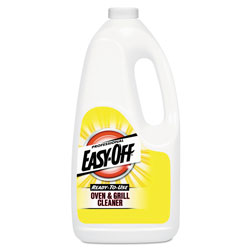 Easy Off Ready-to-Use Oven and Grill Cleaner, Liquid, 2qt Bottle, 6/Carton