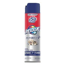 Resolve Pet High Traffic Foam Carpet and Upholstery Cleaner, 22 oz, Aerosol, 12/Carton