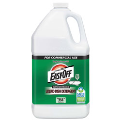 Easy Off Liquid Dish Detergent Concentrate, 1 gal Bottle, 2/Carton