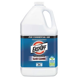 Easy Off Glass Cleaner Concentrate, 1 gal Bottle, 2/Carton