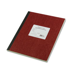 National Brand Computation Notebook, 4 sq/in Quadrille Rule, 11.75 x 9.25, Green Tint, 75 Sheets