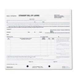 Rediform Bill of Lading Short Form, 7 x 8 1/2, Three-Part Carbonless, 250 Forms