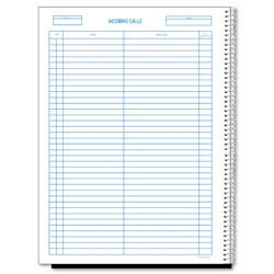 Rediform Wirebound Call Register, 8 1/2 x 11, 3, 700 Forms/Book
