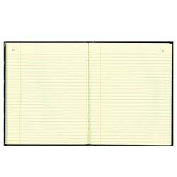 National Brand Texthide Record Book, Black/Burgundy, 150 Green Pages, 10 3/8 x 8 3/8