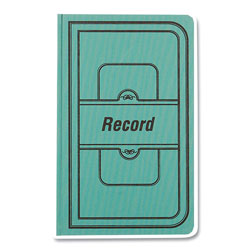 Rediform Tuff Series Record Book, Green Cover, 7.63 x 12.13, 500 White Pages