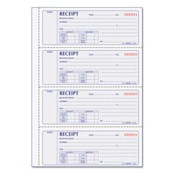 Rediform Money Receipt Book, 7 x 2 3/4, Carbonless Duplicate, 200 Sets/Book