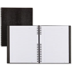 Blueline NotePro Notebook, 11 x 8 1/2, White Paper, Black Cover, 75 Ruled Sheets