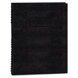 Blueline EcoLogix NotePro Executive Notebook, Medium/College Rule, Black, 11 x 8.5, 100 Sheets