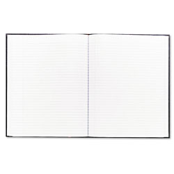 Blueline Executive Notebook, Medium/College Rule, Black Cover, 10 3/4 x 8 1/2, 75 Sheets