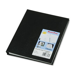 Blueline NotePro Undated Daily Planner, 9-1/4 x 7-1/4, Black