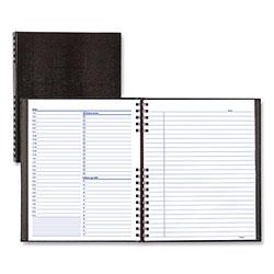 Blueline NotePro Undated Daily Planner, 10 3/4 x 8 1/2, Black