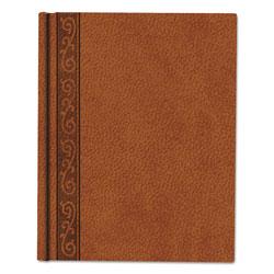 Blueline Da Vinci Notebook, 1 Subject, Medium/College Rule, Tan Cover, 11 x 8.5, 75 Sheets