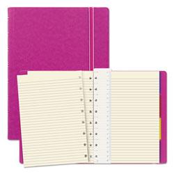 Filofax Notebook, 1 Subject, Medium/College Rule, Fuchsia Cover, 8.25 x 5.81, 112 Sheets