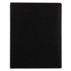 Blueline Duraflex Poly Notebook, 1 Subject, Medium/College Rule, Black Cover, 11 x 8.5, 80 Sheets
