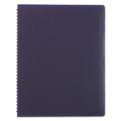 Blueline Duraflex Poly Notebook, 1 Subject, Medium/College Rule, Blue Cover, 11 x 8.5, 80 Sheets