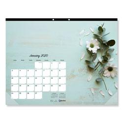 Blueline Romantic Monthly Desk Pad Calendar, 22 x 17, Floral, 2021