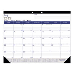 Blueline Academic Desk Pad Calendar, 22 x 17, White/Blue/Gray, 2020-2021