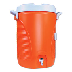 Rubbermaid Insulated Water Cooler, 5 gal, Orange/White