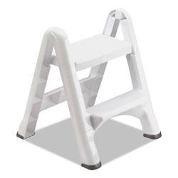 Rubbermaid EZ Step 2-Step Folding Stool, 19.5 x 20.6 x 22.7, White, 3/Carton