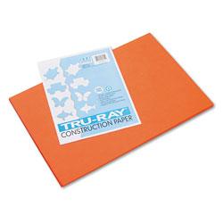 Pacon Tru-Ray Construction Paper, 76lb, 12 x 18, Orange, 50/Pack