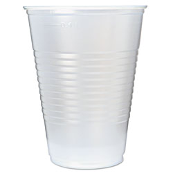 Fabri-Kal RK Ribbed Cold Drink Cups, 16oz, Translucent, 50/Sleeve, 20 Sleeves/Carton