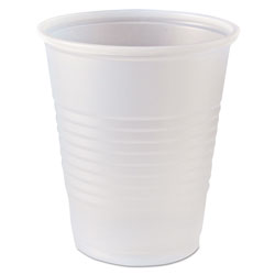 Fabri-Kal RK Ribbed Cold Drink Cups, 5 oz, Clear, 2500/Carton