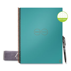 Rocketbook Rocketbook Everlast Smart Reusable Notebook, Dotted Rule, Neptune Teal Cover, 8.5 x 11, 16 Sheets