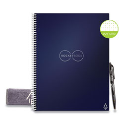 Rocketbook Rocketbook Everlast Smart Reusable Notebook, Dotted Rule, Midnight Blue Cover, 8.5 x 11, 16 Sheets