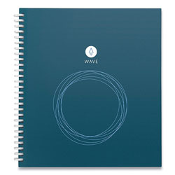 Rocketbook Rocketbook Wave Smart Reusable Notebook, Dotted Rule, Blue Cover, 8.5 x 9.5, 40 Sheets